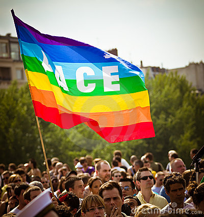 Gay flag Editorial Stock Image