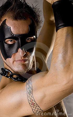 Free Gay Guy In Black Mask Royalty Free Stock Photography - 3731987