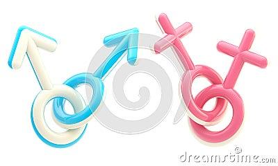 Gay and lesbian symbol emblems