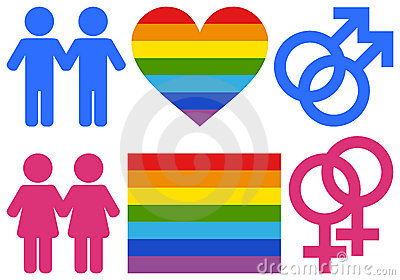 Gay and Lesbian Symbols Vector Illustration