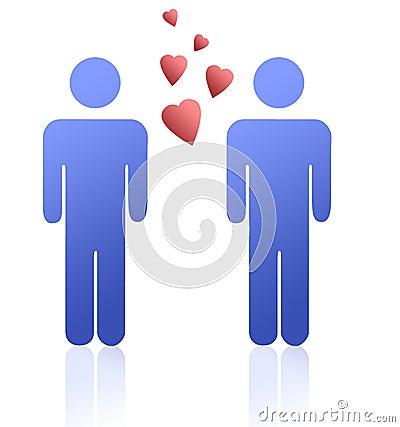Gay men in love Stock Photo