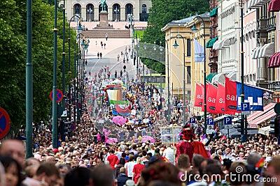 Pride parade in Oslo Editorial Photo