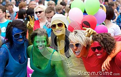 Gay parade Oslo Editorial Stock Photo