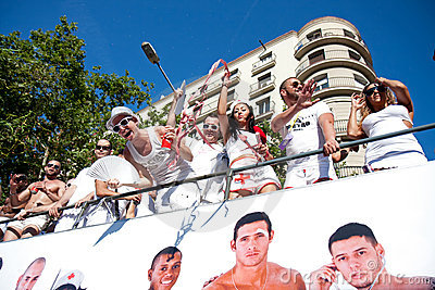 Gay Pride in Barcelona, Spain Editorial Photo