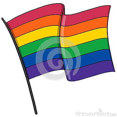 Gay pride flag illustration
