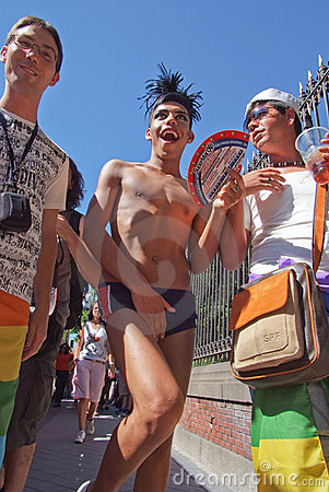 Gay Pride Madrid July 2008 Editorial Stock Photo