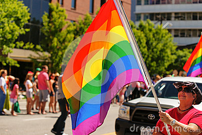 Gay Pride Parade Editorial Photography