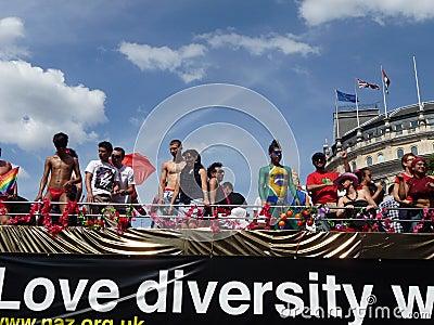 Gay Pride Parade Day 2010 Editorial Image