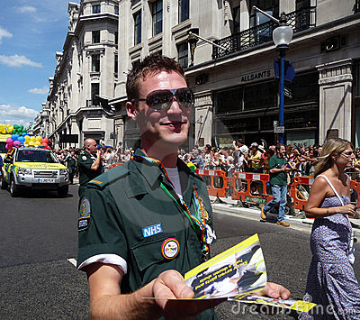 Gay Pride Parade Day 2010 In Central London Editorial Stock Image