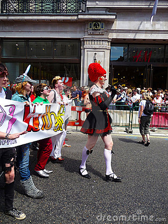 Gay Pride Parade Day 2010 In Central London Editorial Stock Photo