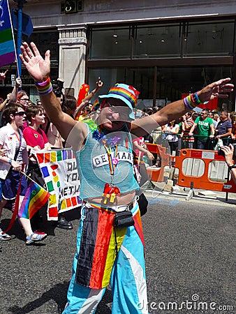 Gay Pride Parade Day 2010 In Central London Editorial Image