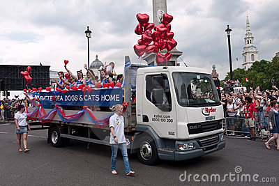 Gay Pride Parade London 2011 Editorial Image