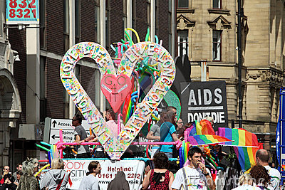 Gay pride parade in Manchester, UK 2010 Editorial Image
