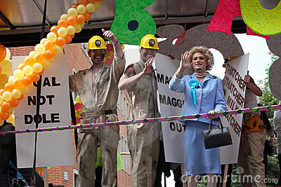 Gay pride parade in Manchester, UK 2010 Editorial Stock Photo