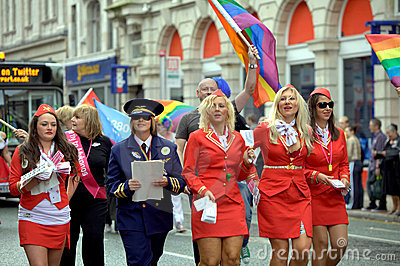 Gay pride parade in Manchester, UK 2010 Editorial Photography