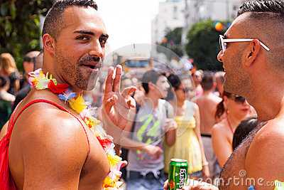 Gay Pride Parade Tel-Aviv 2013 Fotografia Editoriale