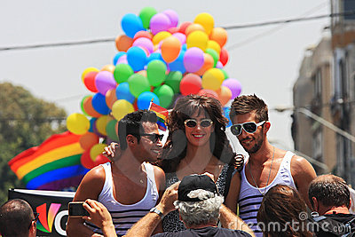 Gay Pride Parade in Tel Aviv, Israel. Editorial Image