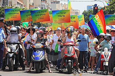 Gay Pride Parade in Tel Aviv, Israel. Editorial Stock Image