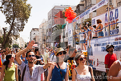 Gay Pride Parade Tel-Aviv 2013 Editorial Stock Image