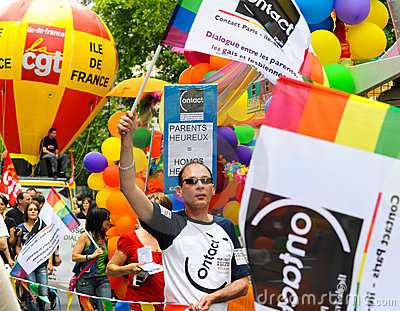 Gay Pride Parade to support gay rights Editorial Image
