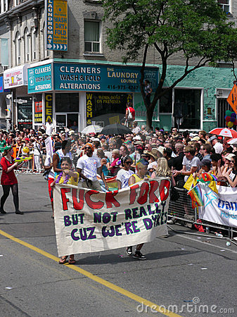 Gay Pride Parade, Toronto, 2011 Editorial Stock Photo