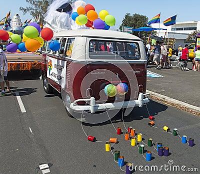 Gay Pride Parade Van Editorial Stock Photo