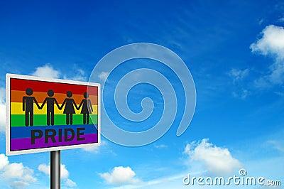Gay Pride  - photo realistic sign