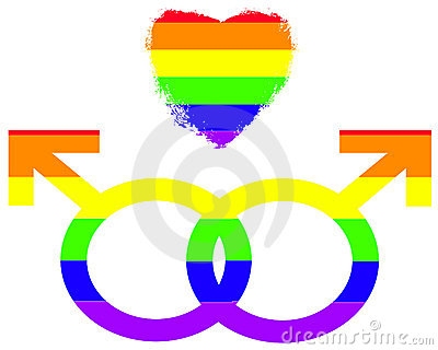 Gay Pride Symbols Of Love Royalty Free Stock Photos - Image: 13004728