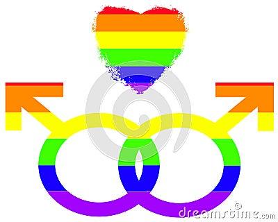 Gay Pride Symbols of Love
