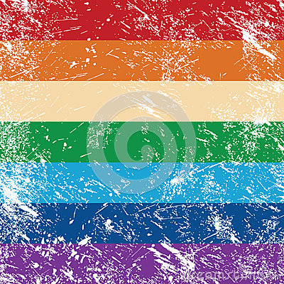 Gay rights retro flag
