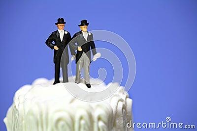 Gay or same-sex marriage concept.