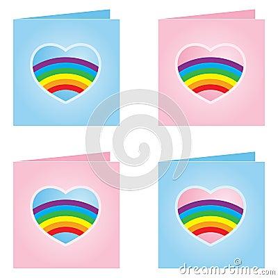 Gay Valentine Card - Vector Illustration