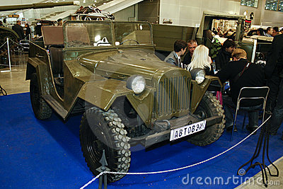 GAZ-67B Editorial Stock Photo