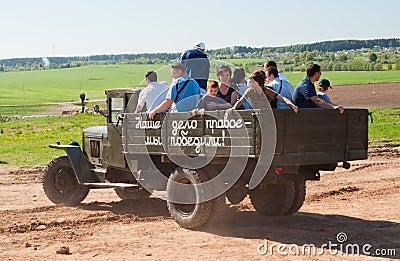 GAZ AA retro truck Editorial Stock Image