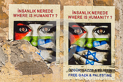 Gaza Posters Editorial Photo