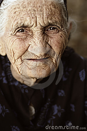 Gaze of senior woman
