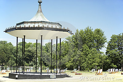 Gazebo And Deck Chairs In Hyde Park, London
