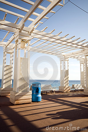 Gazebo shade structure in Nice France