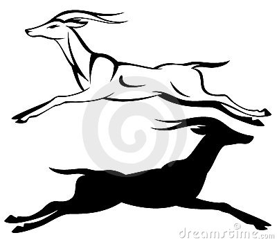 Gazelle running vector