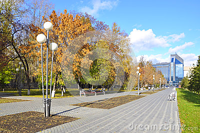 Gazoil-Plaza, business center. Tyumen, Russia. Editorial Image