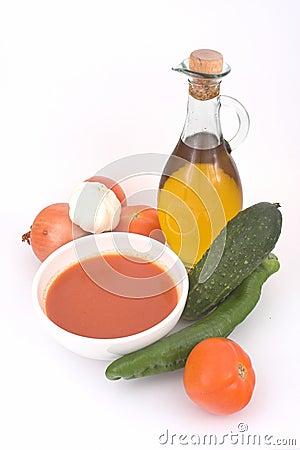 Gazpacho ( spanish cold soup )