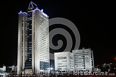 Gazprom buildings Editorial Stock Image