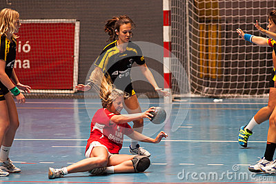 GCUP 2013 Handball. Granollers. Editorial Photography