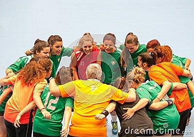 GCUP 2013 Handball. Granollers. Editorial Stock Photo