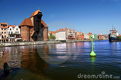 Gdansk, Danzig, Poland famous wooden crane