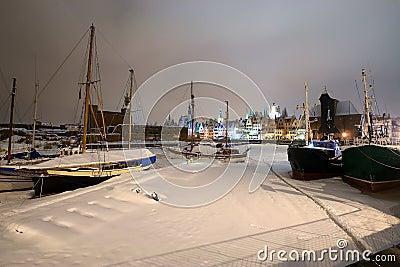 Gdansk en la nieve
