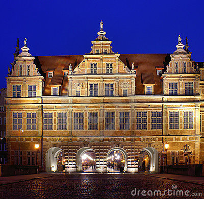 Gdansk at night.
