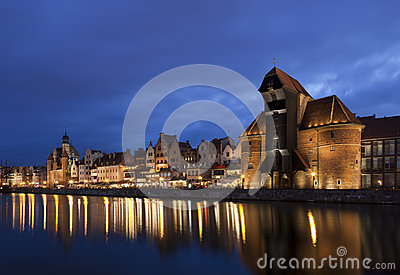 Gdansk at night, Poland
