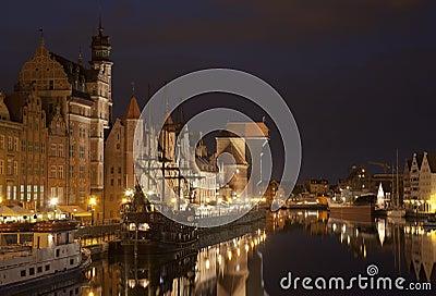 Gdansk at night, Poland