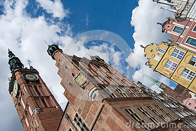 Gdansk Old Town and City Hall